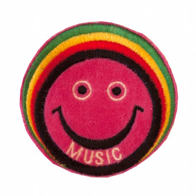 "No18 ALM Rasta Man Smile Patch ""MUSIC"""
