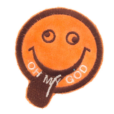"No40 ALM Smile Patch Orange ""OH MY GOD"""
