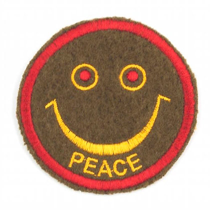 "No142 ALM Smile Patch Olive ""PEACE"""