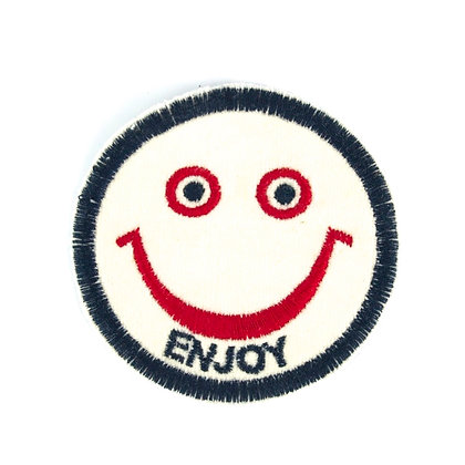 "No94 ALM Smile Patch ""ENJOY"" White"