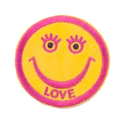 "No51 ALM Smile Patch Yellow ""LOVE"""