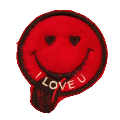 "ALM Smile Patch ""I Love U"" Red"