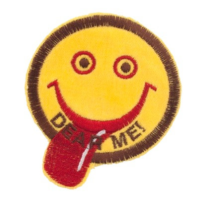 "No52 ALM Smile Patch Yellow ""DEAR ME!"""