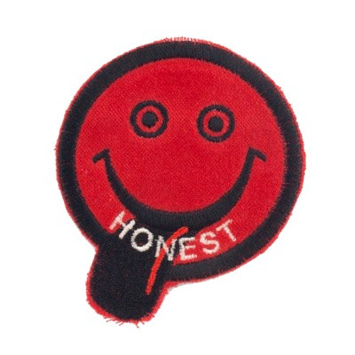 "No32 ALM Smile Patch Red ""HONEST"""