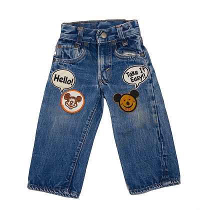 ALM Kid's Denim Pants w/Patches