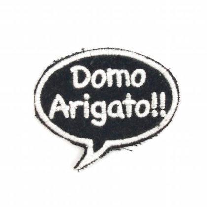 """No157 ALM Bubble Patch Black  """"Domo Arigato!!"""""""