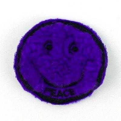 "No76 ALM Smile Patch Purple ""Peace"""