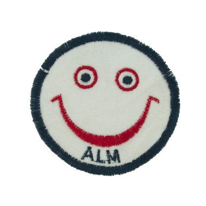 No84 ALM Smile Patch  White