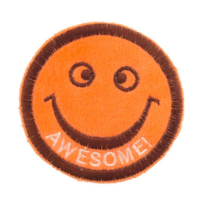 "No39 ALM Smile Patch Orange ""AWESOME!"""