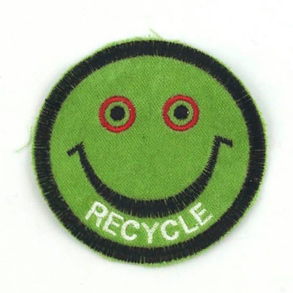 """No187  ALM Smile Patch Green   """"RECYCLE"""""""