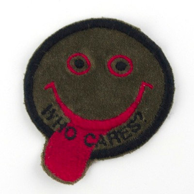"No68 ALM Smile Patch ""Who Cares?"""