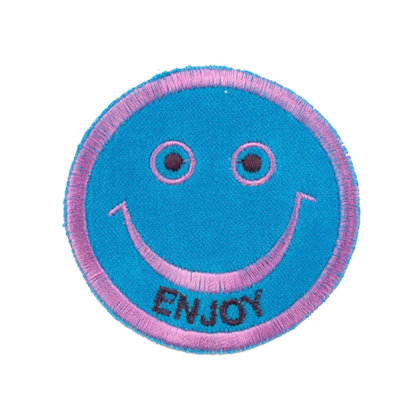 "No55 ALM Smile Patch Aqua ""ENJOY"""