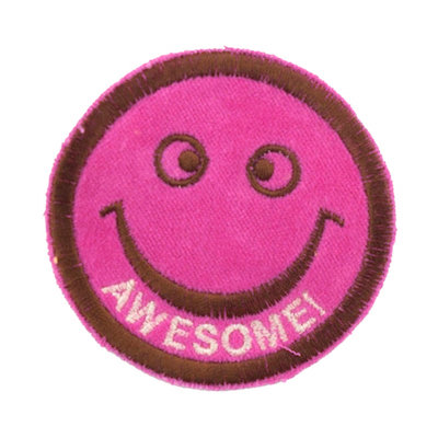 "No37 ALM Smile Patch Vivid Pink ""AWESOME!"""