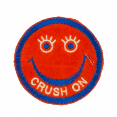 "No22 ALM Smile Patch Neon Orange ""CRUSH ON"""