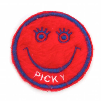 "No150 ALM Smile Patch Red  ""PICKY"""