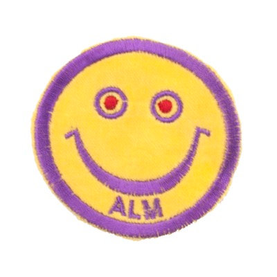 "No47 ALM Smile Patch Yellow ""ALM"""