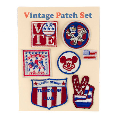 "MOMO Vintage Patch Set ""HAPPY JULY 4TH"""