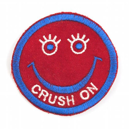 "No144 ALM Smile Patch Red  ""CRUSH ON"""