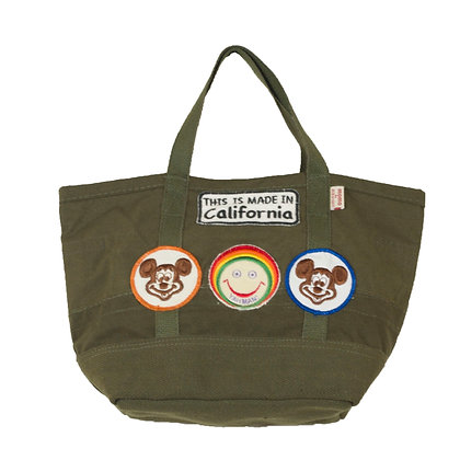 Military Mini Tote Bag w/Patches ⑦