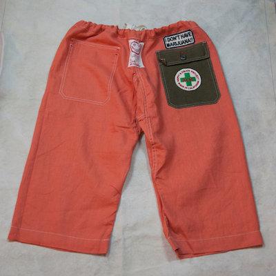 ALM Reversible Capoeira Linen Shorts Orange