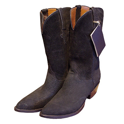 Vintage Lucchese  Hippopotamus Leather Western Boo