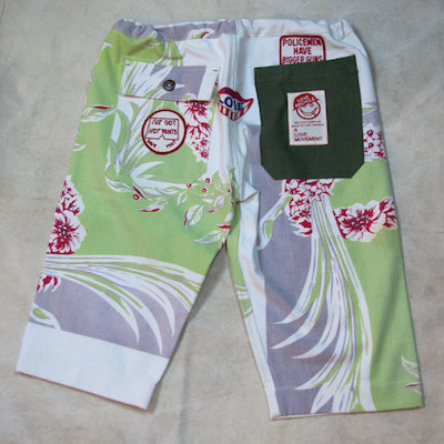 ALM Recycle Hawaiian Shorts White