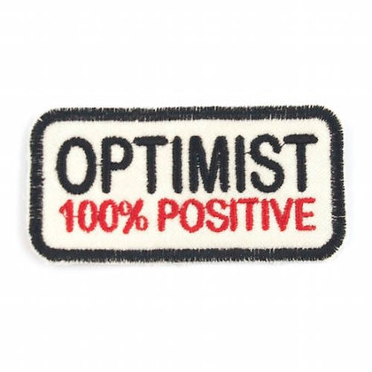 "No171 ALM Message Patch ""OPTIMIST 100% POSITIVE"""