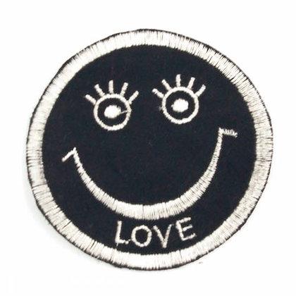 "No153 ALM Rasta Smile Patch Black  ""LOVE"""