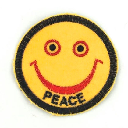 "No189  ALM Smile Patch Yellow  ""PEACE"""