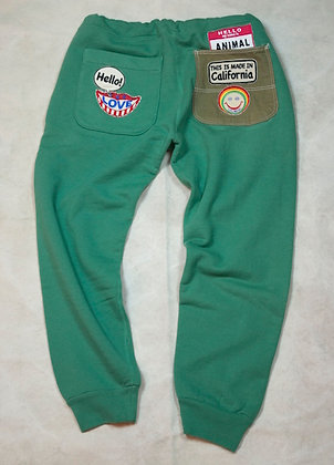 ALM Full Length Sweat Pants Green Small