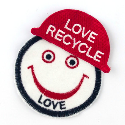 "No103 ALM Helmet patch ""LOVE RECYCLE"""