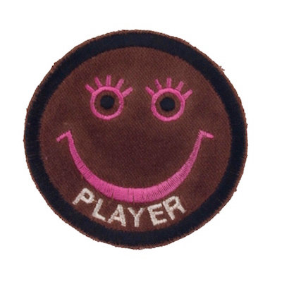 "No9 ALM Smile Patch Dark Brown ""PLAYER"""