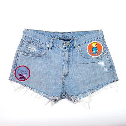 ALM Denim Shorts ⑤