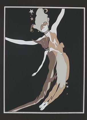 No3, TWO ASTRO FIGURES Silk Screen (1978)
