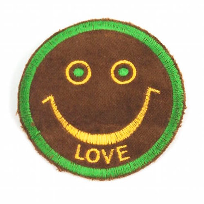 "No149 ALM Smile Patch Brown  ""LOVE"""