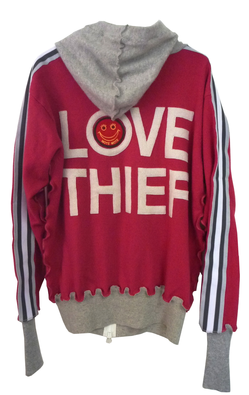"Recycle Cashmere Hoodie ""LOVE THIEF"""