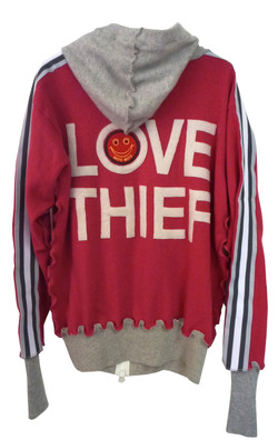 """Recycle Cashmere Hoodie """"LOVE THIEF"""""""