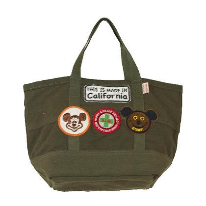 Military Mini Tote Bag w/Patches ④