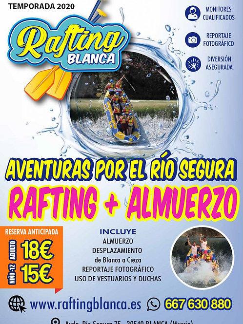 RAFTING + ALMUERZO DE 9'00 A 13'00