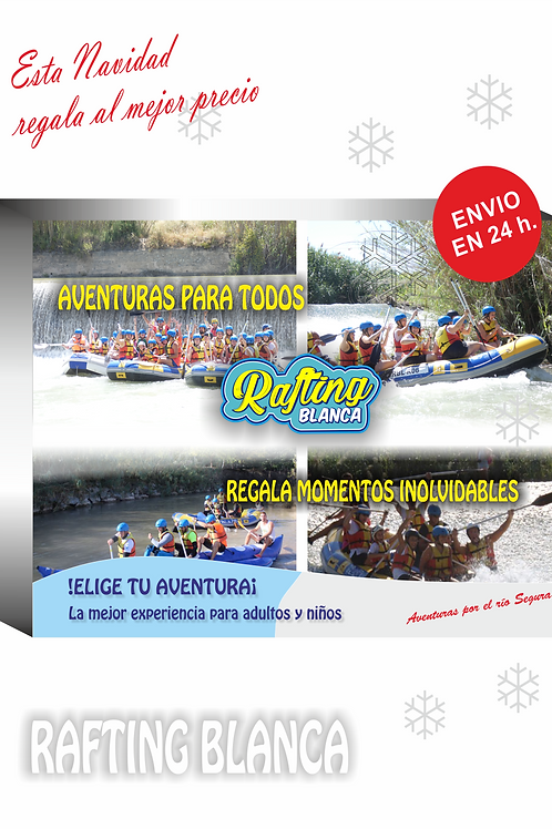 RAFTING + BOX GIFT BOX FROM 17'00 TO 20'30 H.