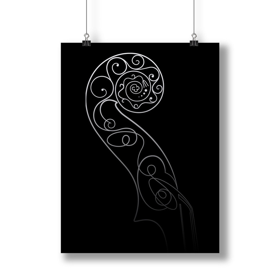 Hellier scroll art line by Mary brun Stringed Instruments Graphics