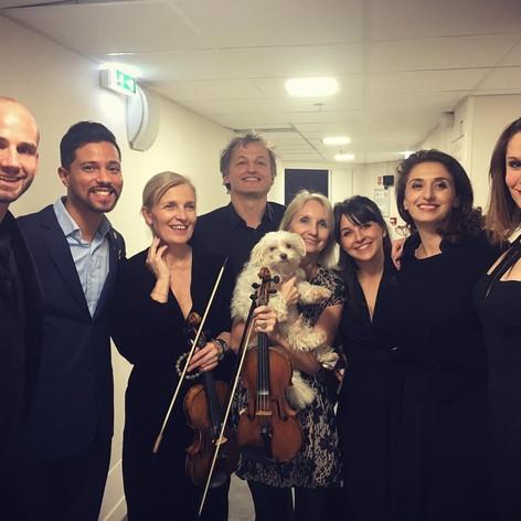 Matthieu Toulouse, Ismael El Mechrafi, Laurence Paugam, JC Spinosi, Françoise Paugam et Nina, Faustine Tremblay et Emilie Rose Bry