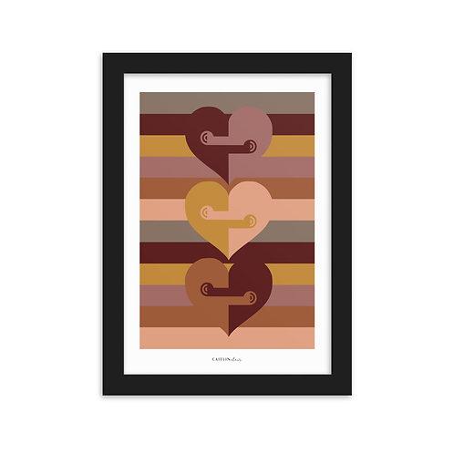 Love NZ - Framed matte paper poster