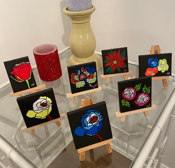 Mini canvases - Flower Themed