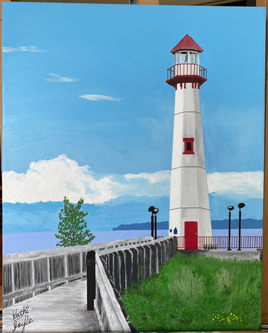 """Wawatam Lighthouse"" in St. Ignace, MI"
