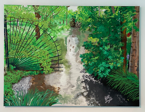 """""""Monet's Garden, Gate at Giverny"""""""