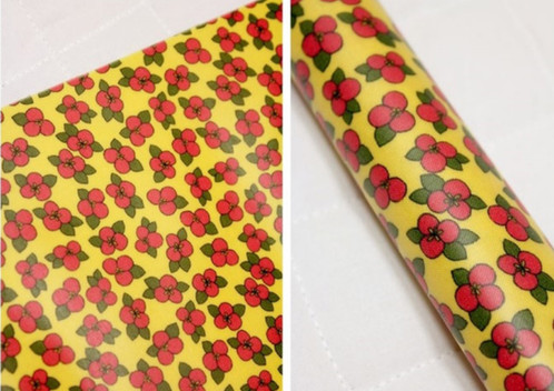 Yellow Floral Laminated Cotton Fabric Oilcloth Waterproof Flowers By