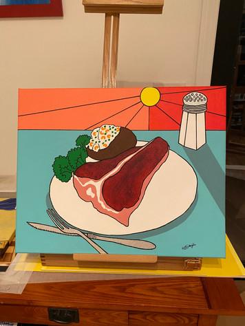 """""""T-Bone Steak Dinner"""""""
