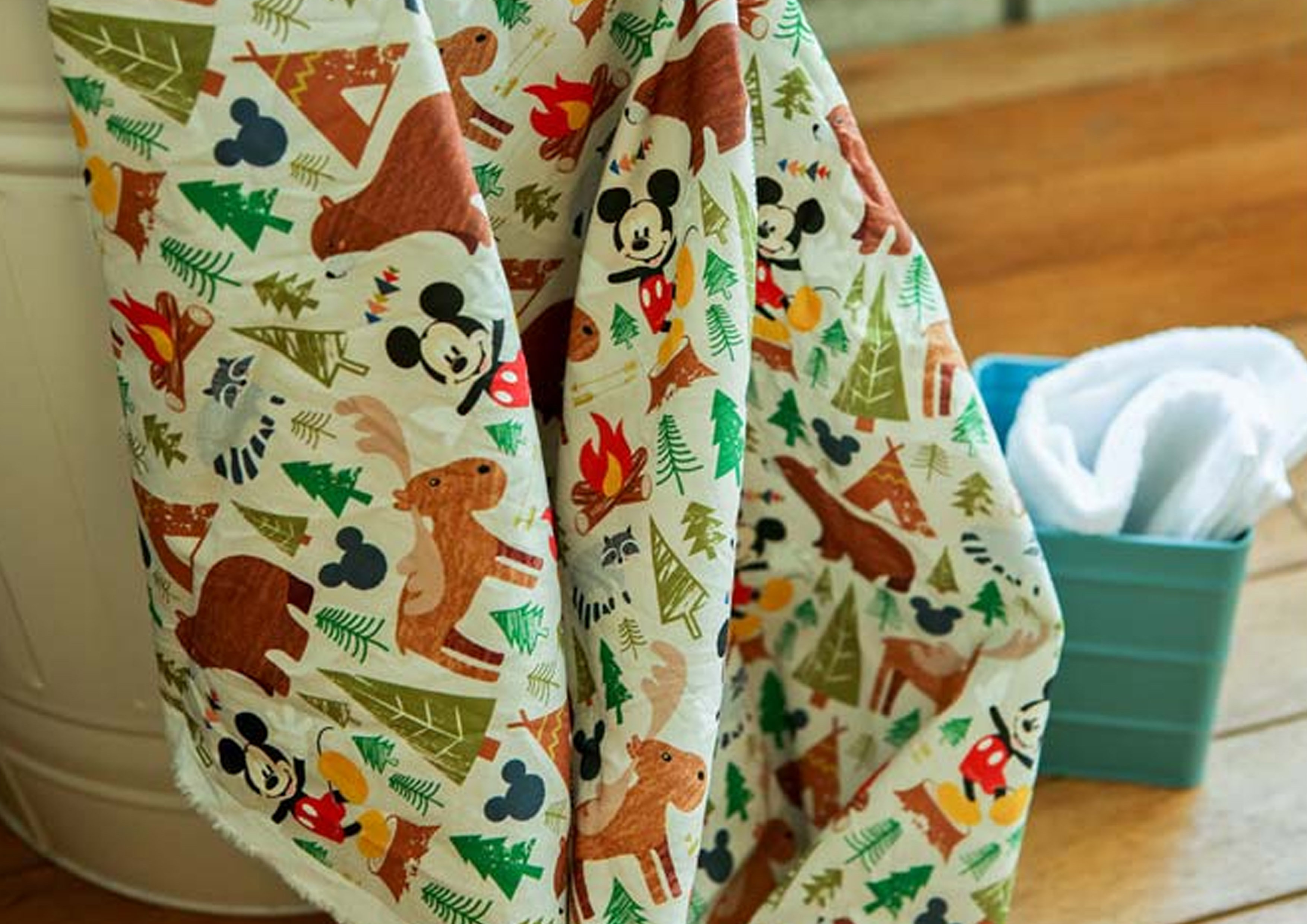 Disney Christmas Fabric By The Yard.Disney Mickey Mouse 100 Cotton Fabric By The Yard Camping Forest Bear Jc9 16