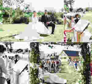 Mariage vert et blanc